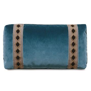 Rudy Velvet Accent Pillow In Blue