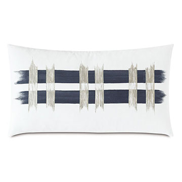 Saya Handpainted Decorative Pillow