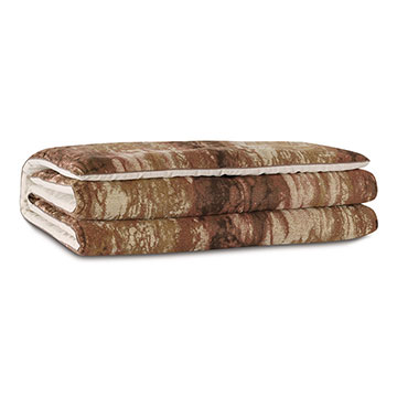 Fossil Marbled Bed Scarf