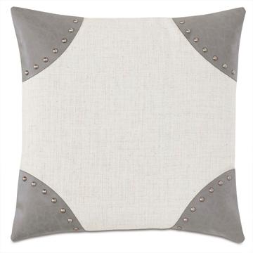 Safford Nailhead Decorative Pillow
