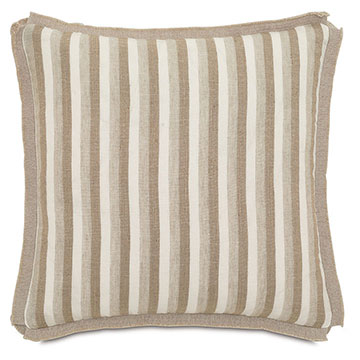 Linum Natural With Butterfly Pleats