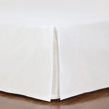 Fresco Classic White Straight Bed Skirt