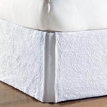 Sandrine White Bed Skirt