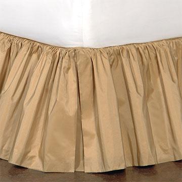 Freda Ruffled Bed Skirt in Gold