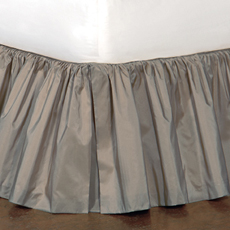 Freda Ruffled Bed Skirt in Steel