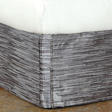 Horta Pewter Bed Skirt