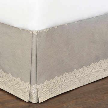Thayer Silver Bed Skirt
