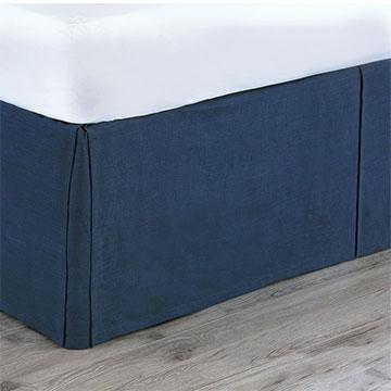 Breeze Indigo Bed Skirt