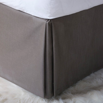 Naomi Pleated Bed Skirt In Taupe