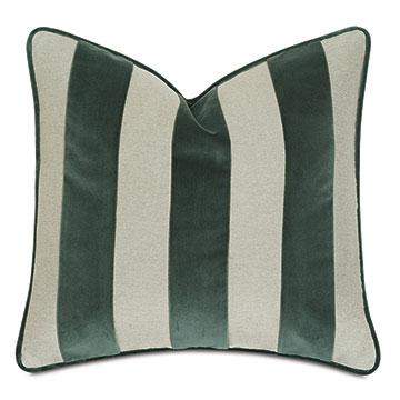 Steeplechaser Velvet Stripe Decorative Pillow