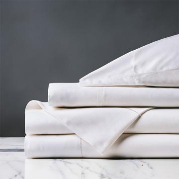 Roma Sateen Sheet Set in White