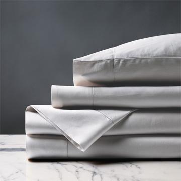 Deluca Sateen Sheet Set in Silver