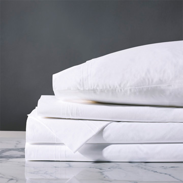 Vail Percale Sheet Set In White