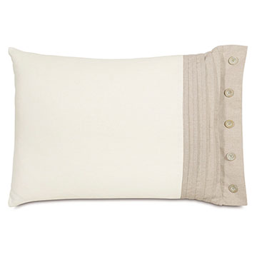 Maritime Pleated Right Standard Sham In Ivory