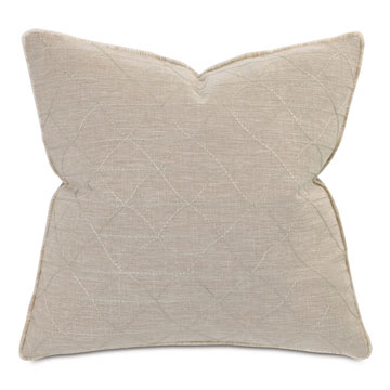 Marfa Embroidered Pillow In Tan