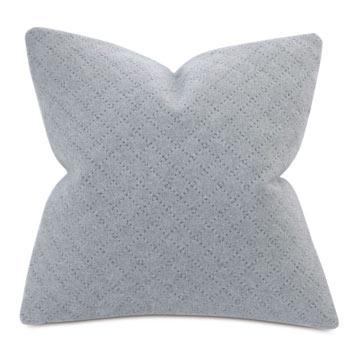 Brera Diagonal Tailor Tacks Decorative Pillow In Gray