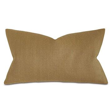 Trillium Solid Decorative Pillow in Gold