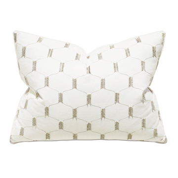 Filmore Embroidered Standard Sham In Ivory
