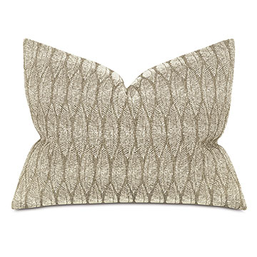 Hawley Leaf Embroidery Standard Sham
