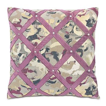 Valentina Velvet Lattice Decorative Pillow