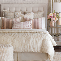 Halo - pink feminine bedding, faux fur bedding,glam bedding,contemporary,white and pink,pink and white,ivory,jewel toned,ombre bedding,metallic,teen girls bedding,tween bedding