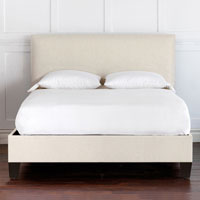 Malleo Upholstered Bed in Filly White