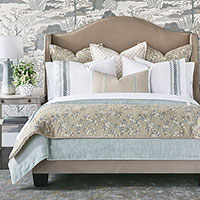 Amberlynn - ,floral bedding,floral embroidery,floral pillows,neutral bedding,designer bedding,embroidered bedding,shabby chic,celerie kemble,botanical embroidery,luxury bedding,romantic bedding,