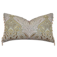 Evie Beaded Trim Decorative Pillow