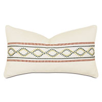 Marguerite Embroidered Tape Decorative Pillow