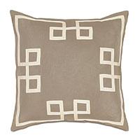 Resort Bisque Fret Accent Pillow