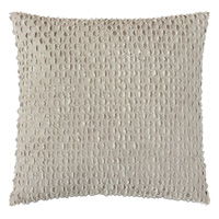 Evangeline Textured Accent Pillow In Taupe