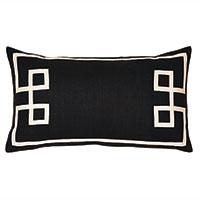Resort Black Fret Accent Pillow