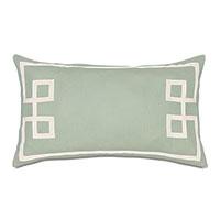 Resort Mint Fret Accent Pillow
