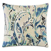 Tabitha Watercolor Paisley Decorative Pillow
