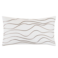 Banks Abstract Decorative Pillow In White