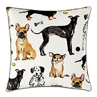 Tompkins Dog Print Decorative Pillow