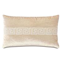 Antiquity Greek Key Decorative Pillow in Cream