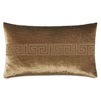 Antiquity Greek Key Decorative Pillow in Coin