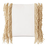 Palermo Fringe Decorative Pillow in Cloud