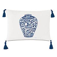 Porcelain Vase Decorative Pillow