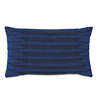 Plisse Pleated Decorative Pillow in Admiral