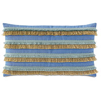 Nocatee Fringe Decorative Pillow in Blue
