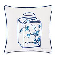 Porcelain Canister Decorative Pillow