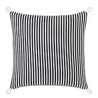 Villa Cord Knot Decorative Pillow in Black
