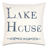 Lake Blockprinted Decorative Pillow