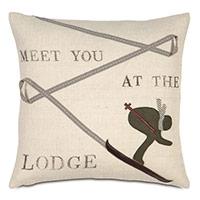 Lodge Burlap Decorative Pillow