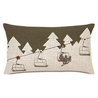 Lodge Ski Lift Decorative Pillow
