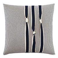 Harbor Knots Decorative Pillow in Navy