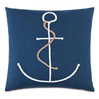 Isle Braided Anchor Decorative Pillow