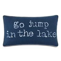Bay Blockprinted Decorative Pillow in Lake